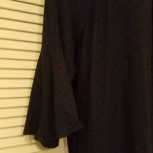 Catherines Tops - RoMANtic Navy Blue Shirt PLUS SIZE 4X 5X 30 32 W